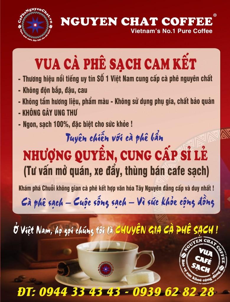 Vua cà phê sạch cam kết bảo vệ sức khỏe cộng đồng