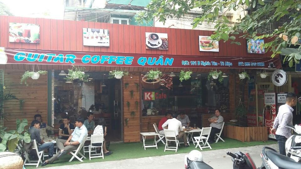 Một quán trong chuỗi quán cà phê nhượng quyền Nguyen Chat Coffee