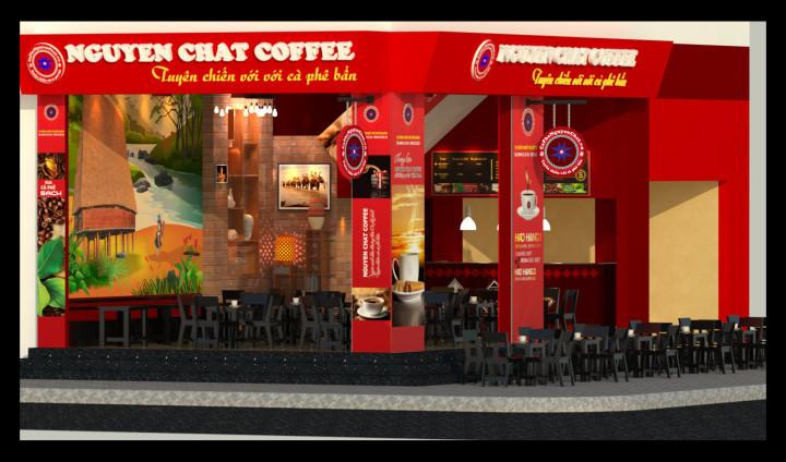 Thiết kế quán cafe rang xay tại chỗ