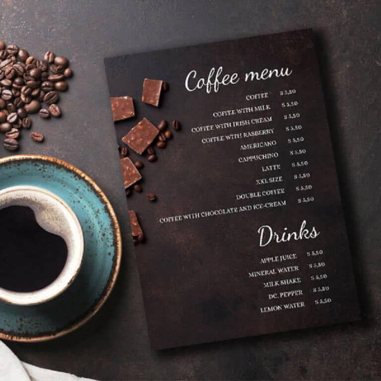Cách để thiết kế menu quán cà phê thông minh, làm nổi bật món đồ uống để thu hút khách hàng